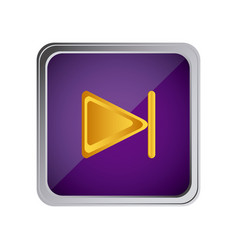 forward button icon with background purple vector image vector image