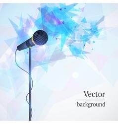 Karaoke microphone song concert vector image