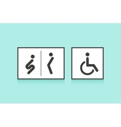 Set of icons for restroom or toilet Man woman vector image