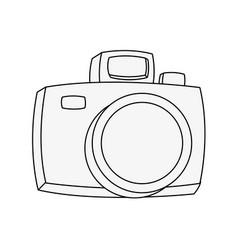 vintage photographic camera vector image