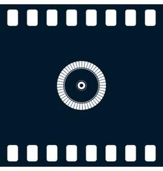 Diamond disc for concrete cutting icon vector image