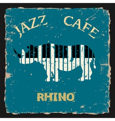Musical Rhino Conceptual vector image vector image