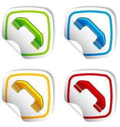 Telephone receiver stickers vector