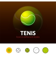 Tennis icon in different style vector image vector image