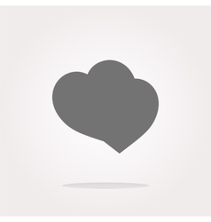 Valentine heart sign heart web button vector image vector image