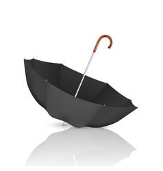 3d realistic render black blank umbrella vector