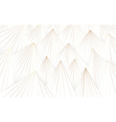 abstract white and gold lines triangle pattern vector image