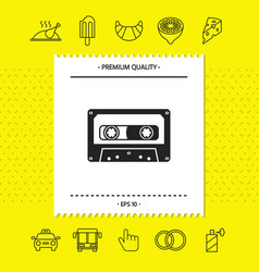 Audio cassette icon graphic elements for your vector