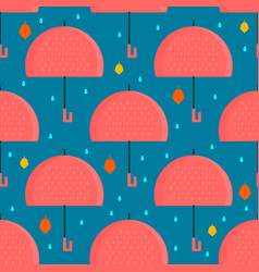 Autumn umbrella seamless pattern vector