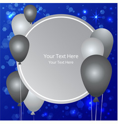 Balloons sale business template vector
