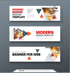 banner design abstract geometric design vector image