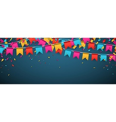 Banner with colour flags vector