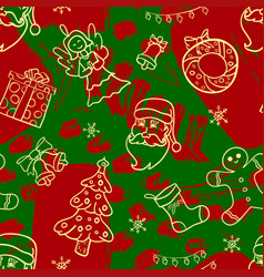 beautiful christmas winter seamless vector image