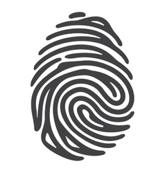 Black fingerprint vector