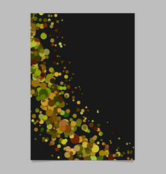 Blank abstract curved confetti flyer background vector
