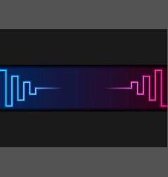 blue ultraviolet neon laser lines abstract vector image