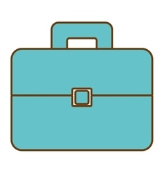 Business briefcase accesorie isolated icon vector image
