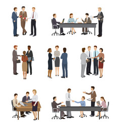 business people team or group of vector image