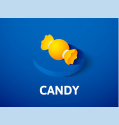 Candy isometric icon isolated on color background vector