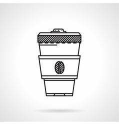Coffee cup black line icon vector image
