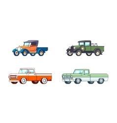 Colorful Pickup Truck Models Set vector image