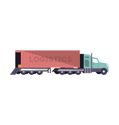 commercial freight truck loading isolated icon vector image