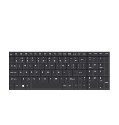 Computer Realistic Black Keyboard Ioslated on vector