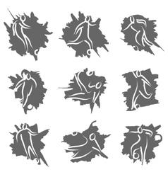 contour football logo vector image