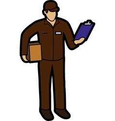 Courier man vector