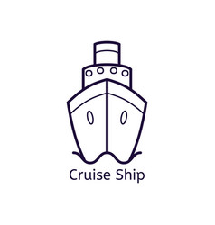 Cruise ship on a white background vector