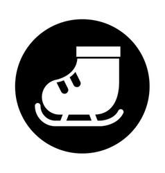 cute round icon ice skate vector image