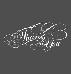 Decorative Thank You Greeting typography vector