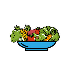 delicious organ food inside of plate vector image