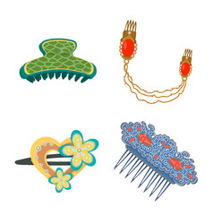 Design barrette and hair sign vector