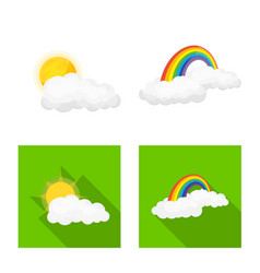 Design of weather and climate sign vector