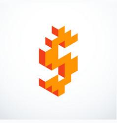 dollar isometric pixel icon vector image