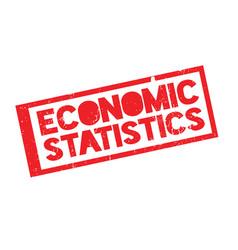 Economic statistics rubber stamp vector