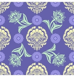 Ethnic Floral Seamless Pattern10 vector image