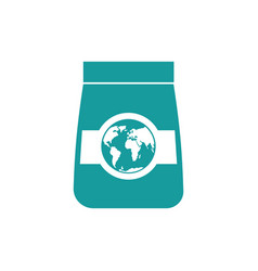 export goods icon packing and earth business vector image