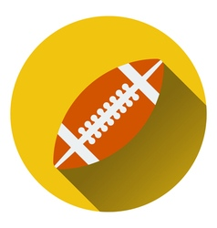 Flat design icon of American football ball in ui vector image