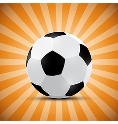 Football Ball on Orange Retro Background vector