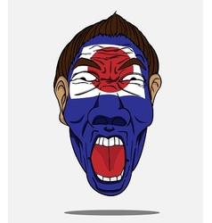 football fan from japan vector image