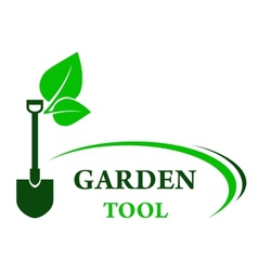 garden background with shovel vector image