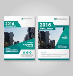 Green annual report Leaflet Brochure Flyer vector image