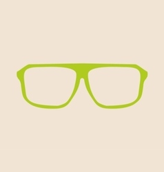 Green glasses on beige background vector image