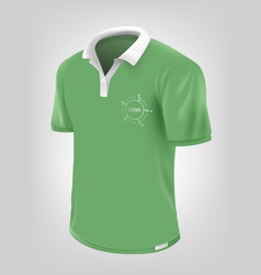 green polo shirt vector image