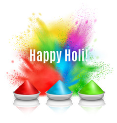 Happy holi holiday background vector