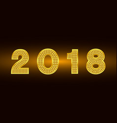 happy new year 2018 background gold vector image