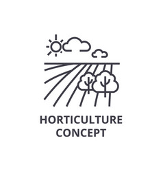 Horticulture concept line icon outline sign vector