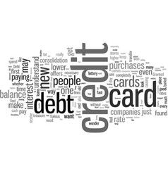 How to get rid credit card debt vector